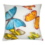 Cojín Algodón/Poliester Butterfly Azul