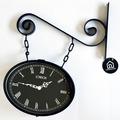 Reloj de Pared Metalico Negro