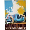 Cuadro Grand Prix Automobile Azul 50x70