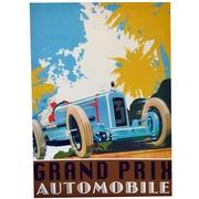 Cuadro Grand Prix Automobile Azul 50x70 Ref.Gran01