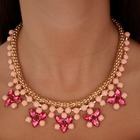 Collar piedras rosas