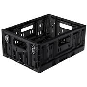 Caja Plastico Plegable 40x30x17 Negra Ref.RPC-4317AL
