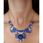 Collar cristales azul agua marina