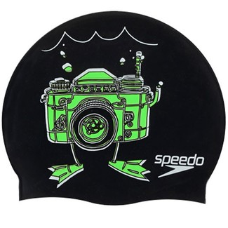 Speedo Gorro de natacion Slogan Cap JR Camera 3
