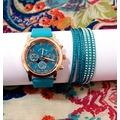 Oferta reloj y pulsera color aguamarina