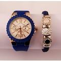 Oferta reloj y pulsera color azul