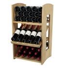 Botellero de la serie Riesling con 1 balda de 5 botellas y 2 estanterias