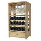 Botellero de la serie Riesling 3 baldas + lugar para colgar copas