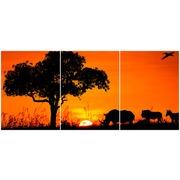 Cuadro Africa Multi 3 90x40cm Ref.121335412