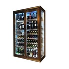 Vinoteca Tandem Wine Acero y Cristal para 400 botellas