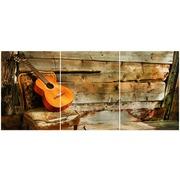 Cuadro Guitarra Multi 3 90x40cm Ref.97111277