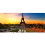 Cuadro Torre Eiffel Multi 3 90x40cm Ref.77676271