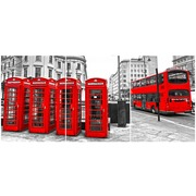 Cuadro Londres Multi 3 90x40cm Ref.97675979