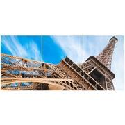 Cuadro Torre Eiffel Multi 3 90x40cm Ref.112383452