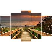 Cuadro Playa Piramide 5 Piezas Ref.142734964