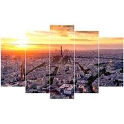 Cuadro Piramide de 5 Piezas París Ref.77231191