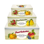 Set 3 Cajas Fruits en Estaño