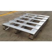 Palets de aluminio seminuevos 1200x800 con 6 barras
