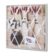 Cuadro con Bolos Vidrio y Mdf 3 x 40 x 40 centímetros