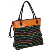 Bolso de Mano Pencil Stripes Color Negro Ref.HDK818