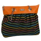 Bolso de mano de Cuero Pencil Stripes
