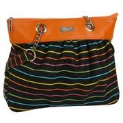 Bolso de Mano Pencil Stripes Tapiceria Cuero Ref.HDK831