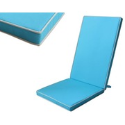 Cojín Silla Exterior Liso Color Azul Océano 123x48x4cm