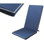 Cojín Silla Exterior Liso Color Azul Marino 123x48x4cm