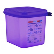 Cubeta Hermética 2.6 litros Antialérgeno GN 1/6 Ref.61390