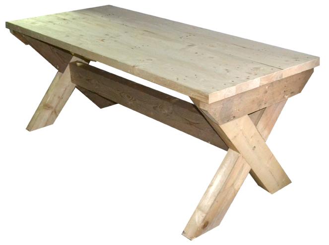 Mesa rustica de madera maciza 205x82x85 ref m2058285 - Mesa madera maciza rustica ...