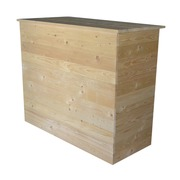 Mueble Recepción con Estante 146x68x121 Ref.M14668121
