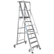 Escalera Móvil Aluminio C/Plataforma Plegable 2XL-S