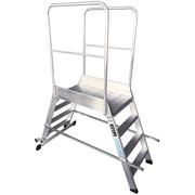 Escalera de Plataforma Móvil Aluminio 2 Accesos