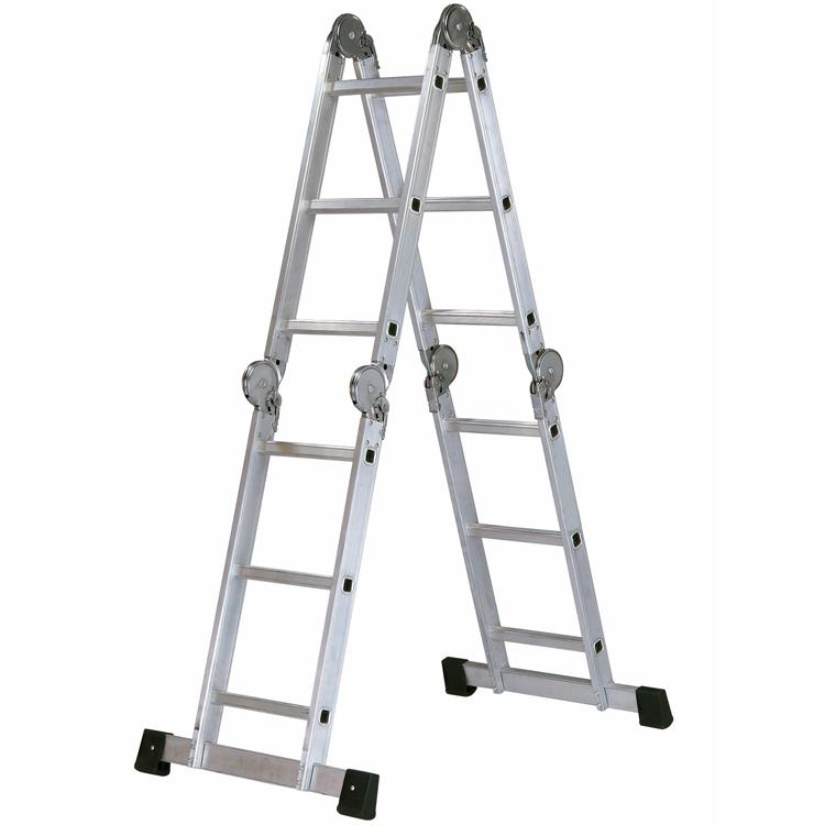 Escalera de aluminio articulada multiposiciones for Escalera aluminio plegable articulada precio