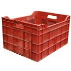 Caja de Plástico Agrícola Roja 49x40x29cm Usada