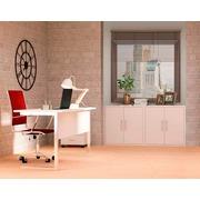 Ambiente de Oficina Melamina Blanco Soft II Ref.001