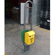 Papelera Doble para Pilas/Basura Metalica 40x60x300cm