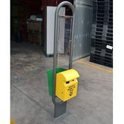 Papelera Doble para Pilas/Basura 40x60x300cm en Metal