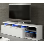Mueble de Televisión Led Color Blanco Brillo 41x150x43cm