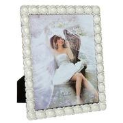 Portafotos Perla Metálico Color Blanco