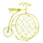 Botellero de Metal Bicicleta Amarilla 22x66x66