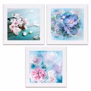 Set 3 Cuadros con Marco Fotoimpresión 1,5 x 30 x 30 cm