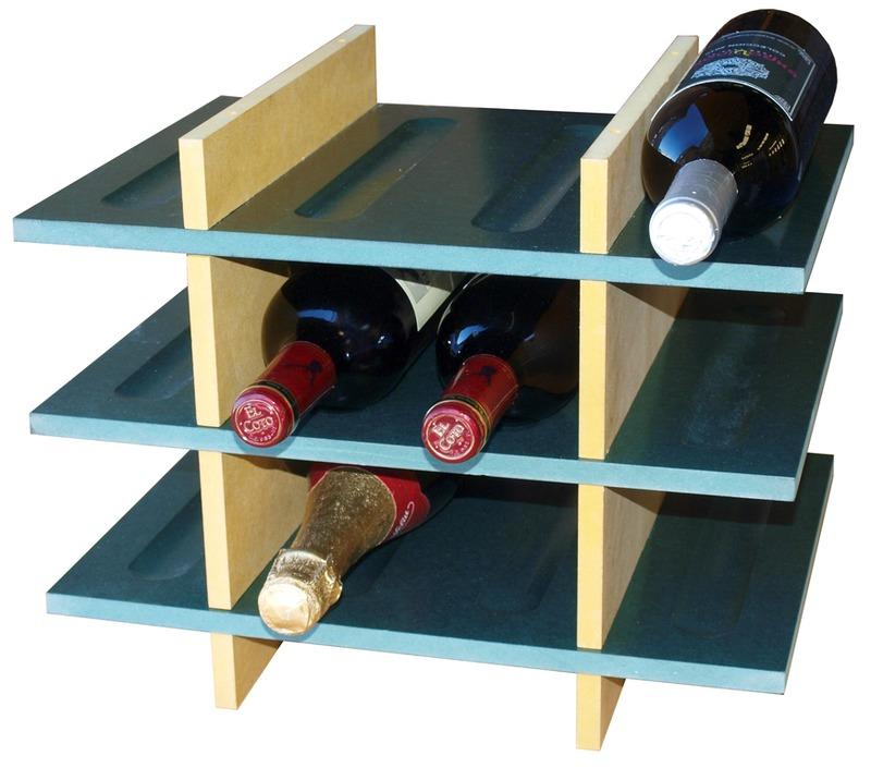 Estanter a para vino 12 botellas 3 alturas - Estanterias para botellas ...