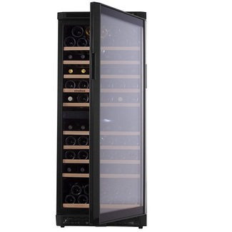 Vinoteca Vinobox 110GC-110 botellas vino - 2 Temperaturas-Negro
