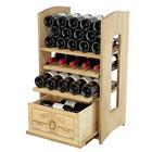 Botellero de la serie Riesling con 3 baldas extraíbles + 1 cajón
