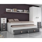 Ambiente Dormitorio Juvenil Modelo Ceniza Moka