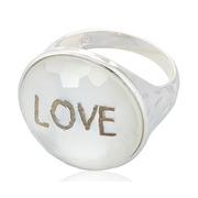 Anillo de Plata Cristal Blanco Estampado Love Ref.ANL 172