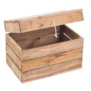 Baúl de Madera Envejecida 30 x 50 x 35 centímetros Ref.1026