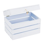 Baúl de Madera Azul 30 x 50 x 35 centímetros Ref.1029
