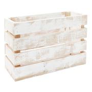 Caja Jardinera Decapada 33 x 50 x 38 centímetros Blanca Ref. 1111